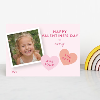 Candy Hearts Classroom Valentine's Cards