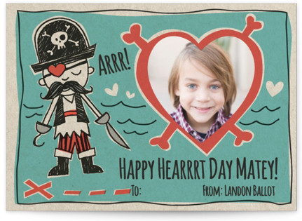 Pirate's Heart Classroom Valentine's Day Cards