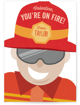 You're On Fire Classroom Valentine's Day Cards