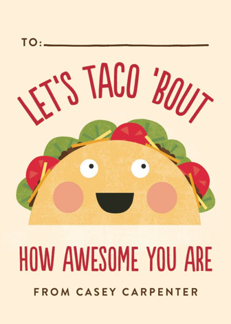 Taco Bout Awesome Classroom Valentine S Cards By Erica