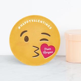 Kiss Emoji Classroom Valentine's Cards