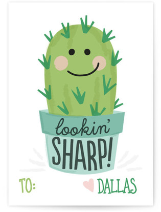 Cute Cactus Classroom Valentine's Day Cards