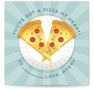 Pizza Forever Classroom Valentine's Day Cards