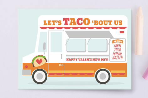 Taco Truck Classroom Valentine's Cards