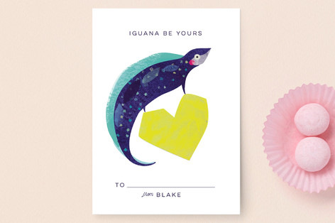Iguana Be Yours Classroom Valentine's Cards