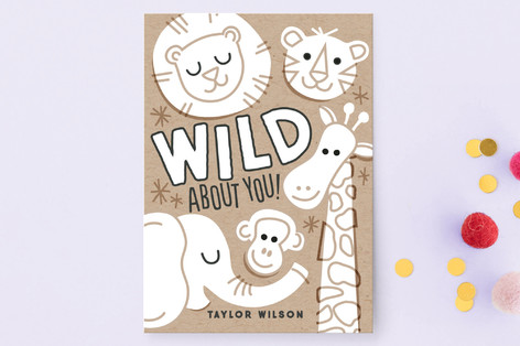 Color-In Zoo Classroom Valentine's Cards