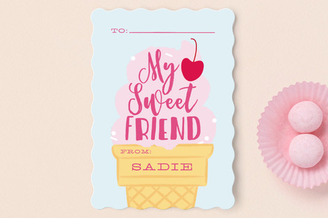 My Sweetest Friend Classroom Valentine's Cards