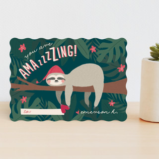 Sleepy Sloth Classroom Valentine's Cards
