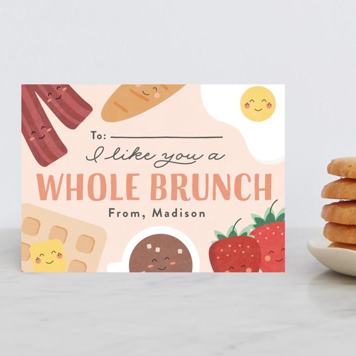 """Whole Brunch"" - Classroom Valentine's Cards in Strawberry Yogurt by Erica Krystek."