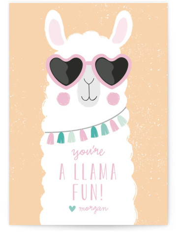 Fun Llama Valentine's Day Cards