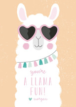 fun llama Classroom Valentine's Day Cards By Angela Thompson