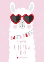Fun Llama Classroom Valentine's Day Cards By Angela Thompson