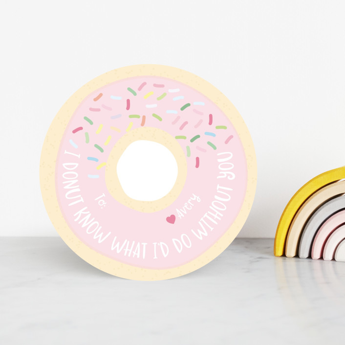 """""""Donut Lucky"""" - Classroom Valentine's Cards in Strawberry by Hudson Meet Rose."""