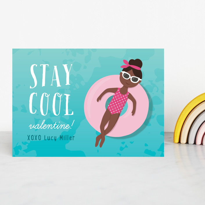 """Stay Cool"" - Classroom Valentine's Cards in Cocoa by Kacey Kendrick Wagner."