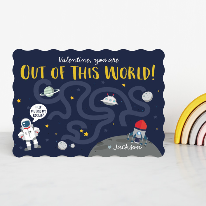 """""""Out of This World"""" - Classroom Valentine's Cards in Deep Space by Oma N. Ramkhelawan."""