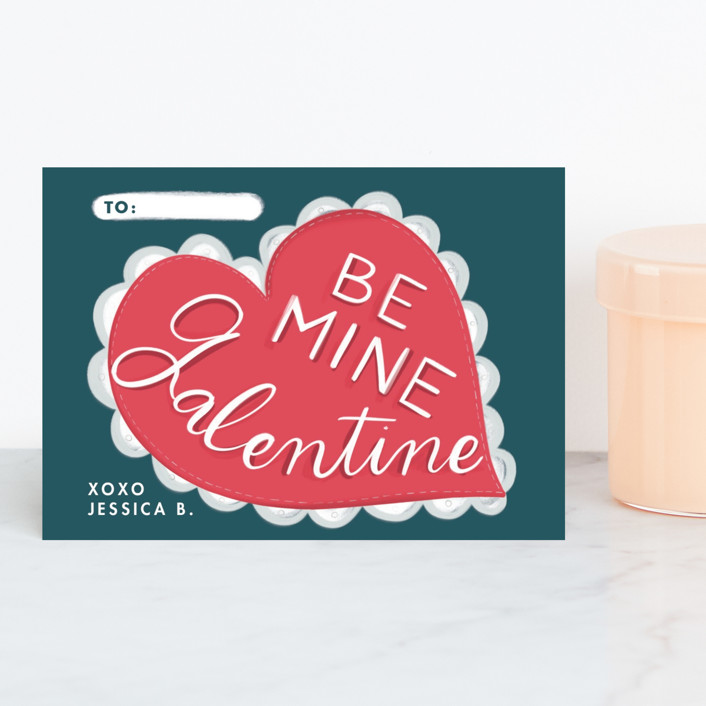 """Be Mine Galentine"" - Classroom Valentine's Cards in Midnight by Becky Nimoy."