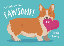 A Pawsome Valentine Classroom Valentine's Day Cards By Sovelle