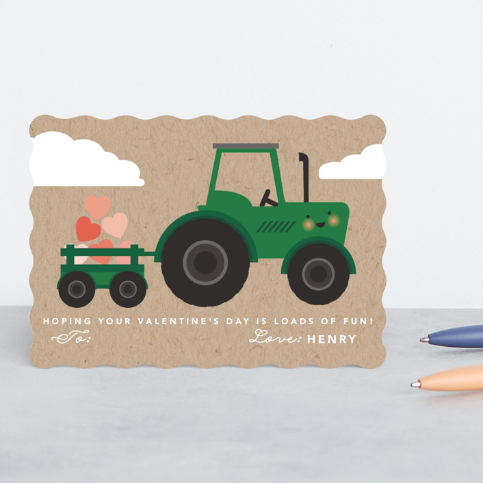 """""""Loads of fun!"""" - Classroom Valentine's Cards in Grass by Hudson Meet Rose."""