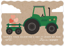 This is a green kids valentines day card by Hudson Meet Rose called Loads of fun! with standard printing on signature in standard.