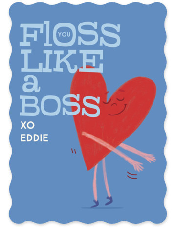 Valentine Floss Boss Valentine's Day Cards