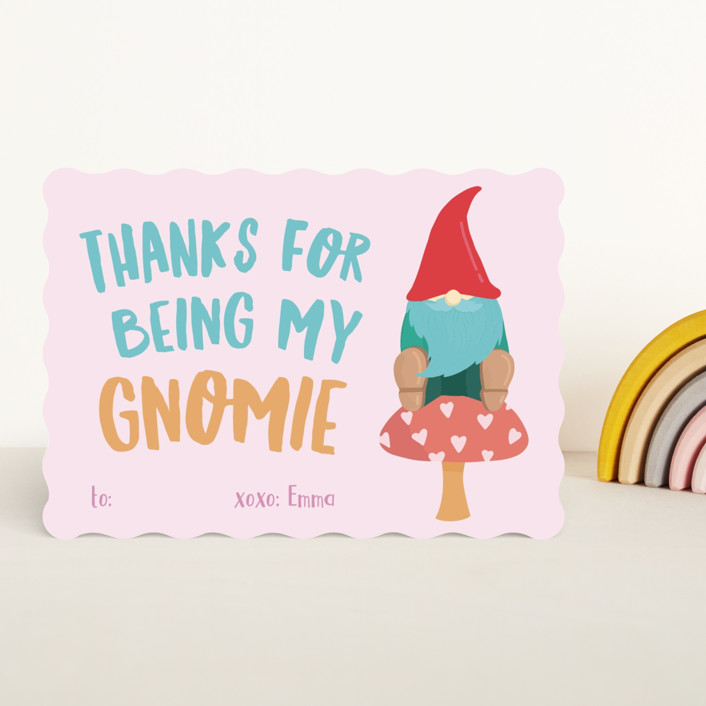 """Gnomie Love"" - Classroom Valentine's Cards in Moss by Tennie and Co.."