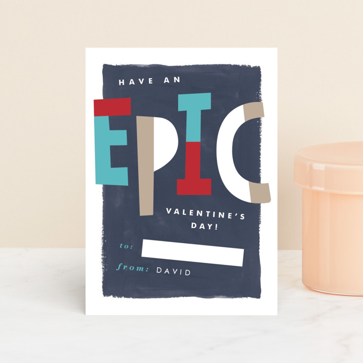 """""""Epic Valentine"""" - Classroom Valentine's Cards in Surf by Pixel and Hank."""