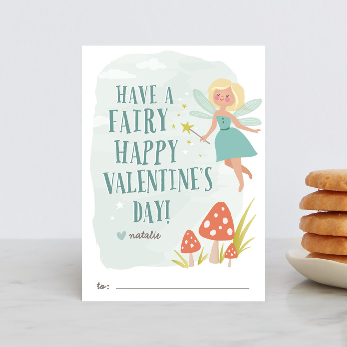 """Valentine Fairy"" - Classroom Valentine's Cards in Dew by Karidy Walker."