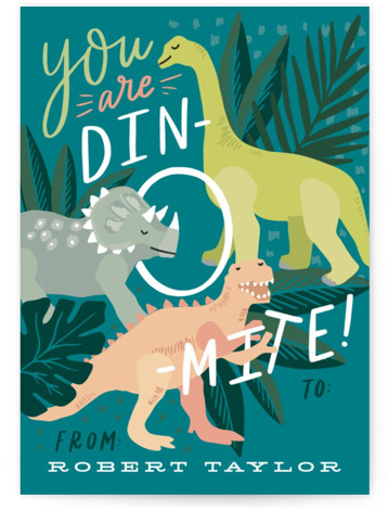 You Are Dino-mite! Valentine's Day Cards