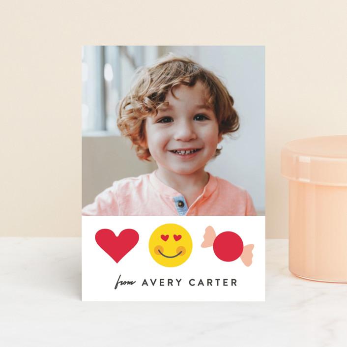 """Emojional"" - Classroom Valentine's Cards in Sugar by Creo Study."