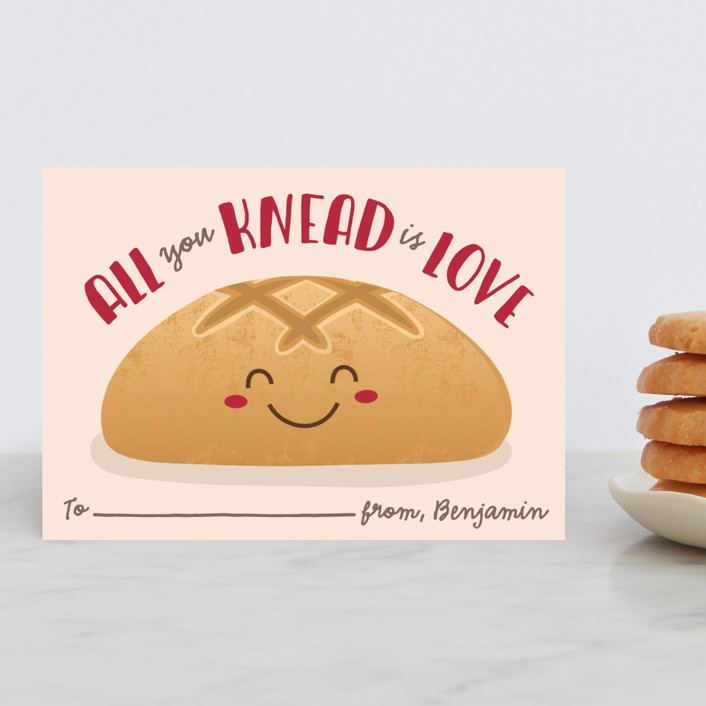 """All You Knead"" - Classroom Valentine's Cards in Dough by Erica Krystek."