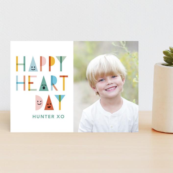 """Happy Shapes"" - Classroom Valentine's Cards in Rainbow by Caitlin Considine."