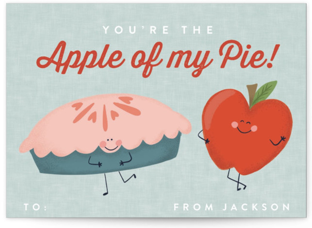 Apple of My Eye Classroom Valentine's Day Cards