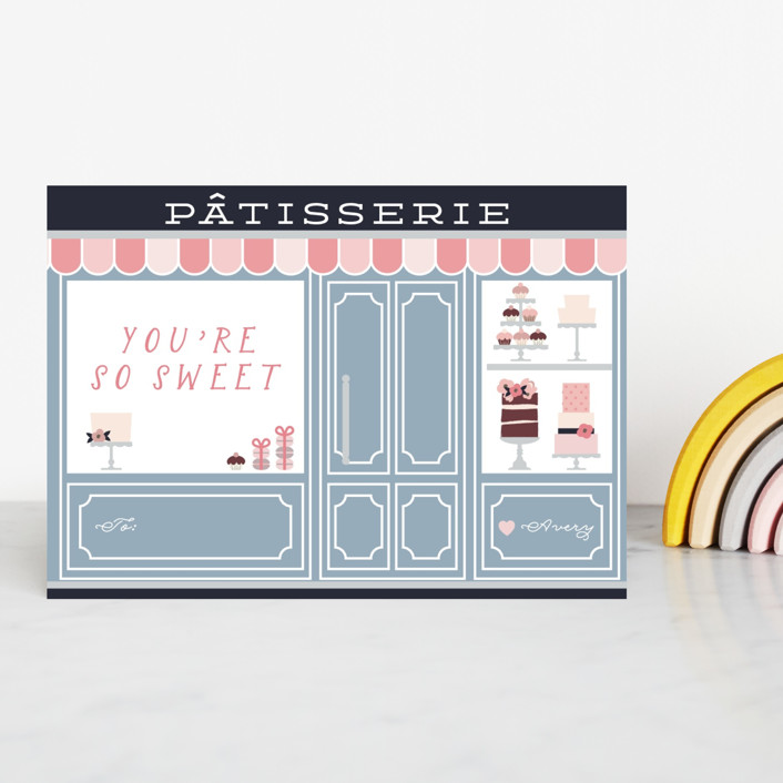 """""""Petite Patisserie"""" - Classroom Valentine's Cards in Blueberry by Hudson Meet Rose."""