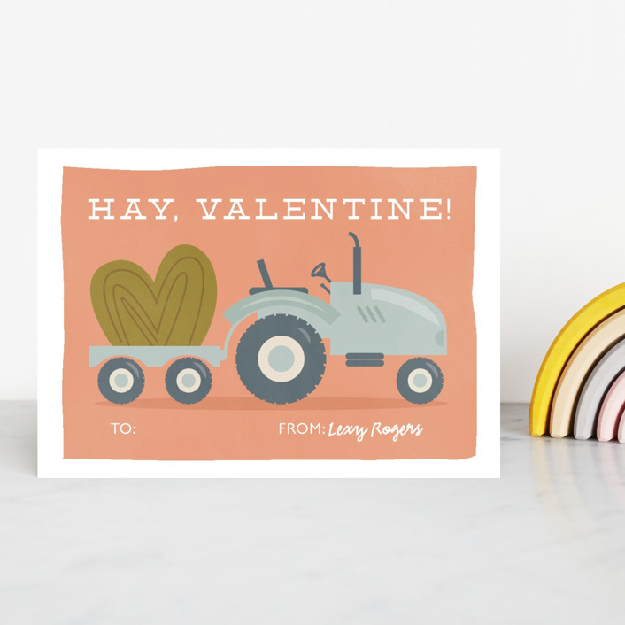 """""""Hay Valentine"""" - Classroom Valentine's Cards in Poppy by Bethany Anderson."""