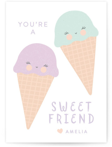 sweet friend Classroom Valentine's Day Cards
