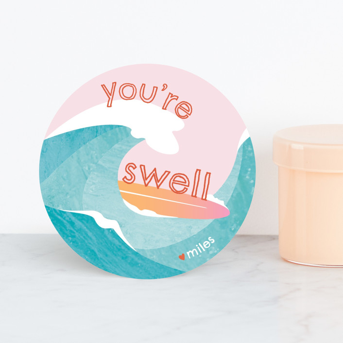 """""""Get Swept Away"""" - Classroom Valentine's Cards in Retro by Kathryn Analise."""