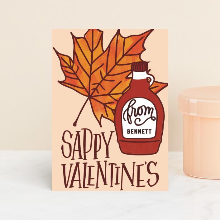 """Sappy Valentine's"" - Classroom Valentine's Cards in Amber by Erin L. Wilson."