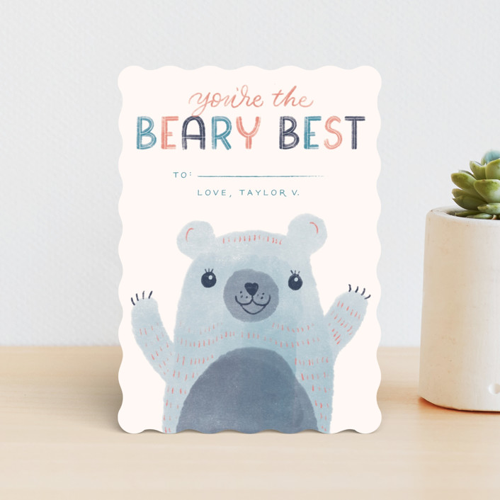 """The Beary Best"" - Classroom Valentine's Cards in Acai by Ashley DeMeyere."