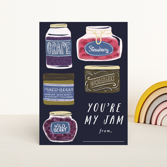 """""""Youre My Jam"""" - Classroom Valentine's Cards in Grape by Shiny Penny Studio."""