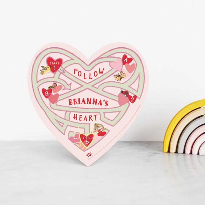 """A Mazing Heart"" - Classroom Valentine's Cards in Berry by CaroleeXpressions."