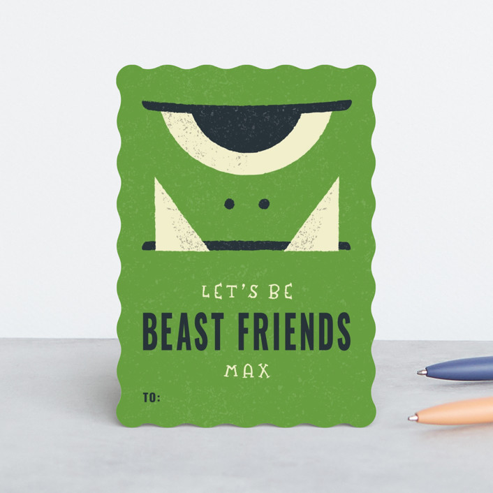 """""""Beast Friends"""" - Classroom Valentine's Cards in Slime by Bob Daly."""