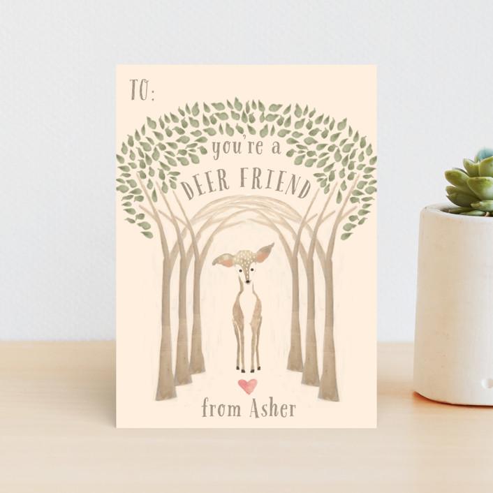 """""""Deerly Valentine"""" - Classroom Valentine's Cards in Cafe by Hallie Fischer."""