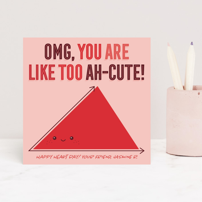 """Too Ah-Cute"" - Classroom Valentine's Cards in Berry by Loree Mayer."