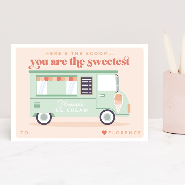 """Here's The Scoop"" - Classroom Valentine's Cards in Pistachio by Caitlin Considine."