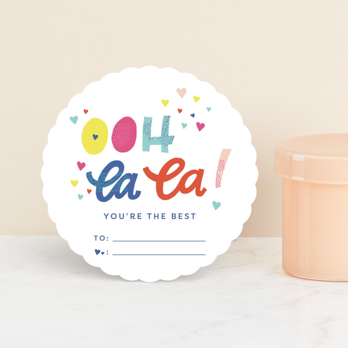 """Ooh La La Valentine"" - Classroom Valentine's Cards in Sour Patch by Ashley DeMeyere."