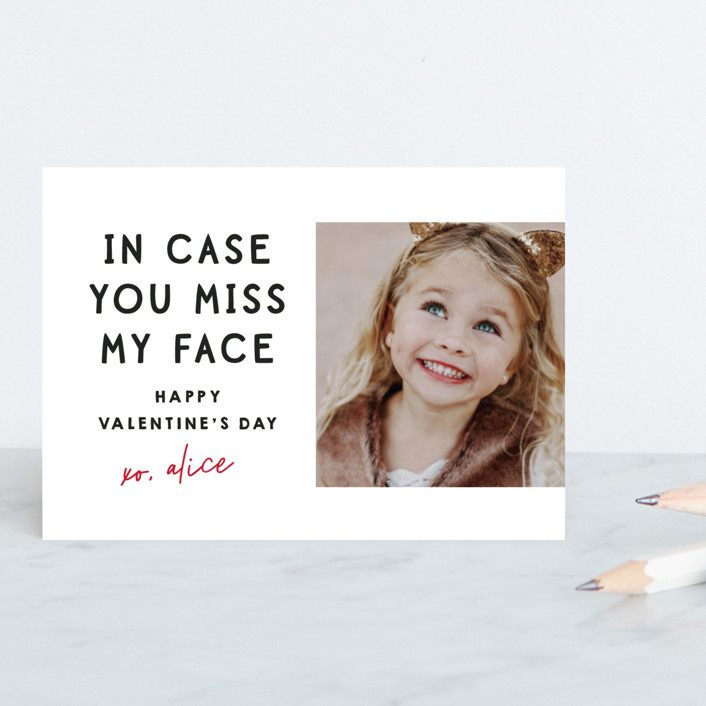 """""""Miss My Face"""" - Classroom Valentine's Cards in Lily by Lori Wemple."""