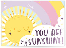 This is a purple kids valentines day card by Christina Novak called My Sunshine with foil-pressed printing on signature in standard.