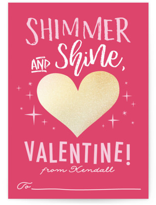 shimmer shine foil valentine cards by karidy walker - Photo Valentine Cards