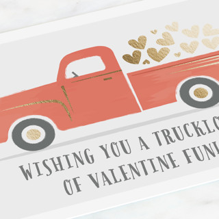 Truckload of Fun Foil Valentine Cards