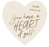 This is a brown kids valentines day card by Erica Krystek called Heart of Gold with foil-pressed printing on signature in standard.